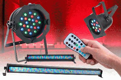 American DJ Remote LED